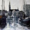 Oosterhaven-Groningen 60x80cm Acryl-inkt op linnen