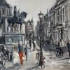 Noordeinde Den-Haag 60x80cm Acryl-inkt op linnen 2011