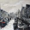 Noorderhaven Groningen 60x80cm Acryl-inkt op linnen