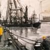 Eemshaven 2008 Acryl inkt 60x80cm