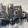 Noorderhaven 70x90cm Acryl-inkt op linnen