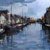 Schilderij Zwolle Throbeckegracht 2013 60x120cm