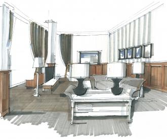 interieurvoorstel Hotel President room Kazachstan