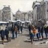 Grote markt Groningen-100x120cm-acryl,inkt op linnen