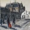 Hoofdstation Groningen-100x120cm-acryl,inkt op linnen