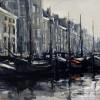 Noorderhaven Groningen-100x120cm-acryl,inkt-op-linnen