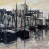 Noorderhaven Groningen-80x100cm-acryl,inkt op linnen
