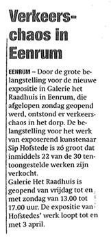 Krantenartikel Eenrum 2 Sip Hofstede