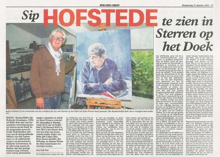 15 oktober 2012 Artikel Ommelander Courant - Sterren op het doek